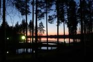 "Закат над ""нашим"" озером."