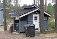 Домик для сбора отходов. Разве можно ЭТО назвать помойкой :)))