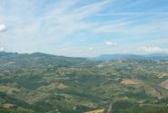 Вид на море с высот Сан Марино.