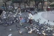 Площадь Каталонии. Обед в самом разгаре