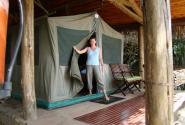 Палатки в лагере Масаи-Мара