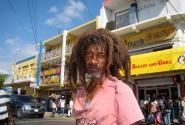Растаман на улице Монтего-Бея (остров Ямайка)