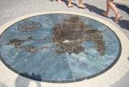 Напольная мозаика (Филипсбург, остров Сан-Мартен)