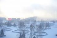 Десятирублевый мост. Раннее утро вид из окна отеля.
