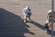 говорят фотографировать себя в зеркале плохая примета, так это не зеркало а потолок козырька в порту Барселоны