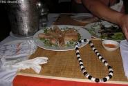блинчики из рисовой муки со змеиным фаршем