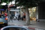 вид на Тель Авив из окна авто