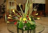 композиция из живых цветов