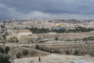 Вид на Иерусалим со смотровой площадки.