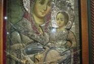 Единственная икона, Вифлиемская Матерь Божья, где Богородица улыбается.. Вифлием. Храм Рождества