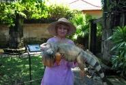 в парке рептилий
