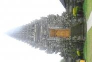 Храм Бесаких в тумане