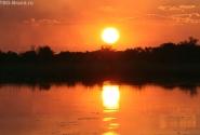закат в Окаванго