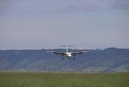 наш самолет садится