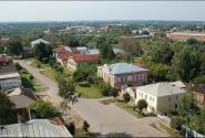 Вид с Колокольни Воскресенского Собора на город