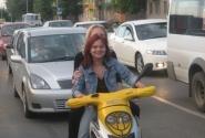 Веселые мотоциклистки