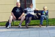 Дружная семейка. Конец октября. Городок виноделов Микулов в Южной Чехии.