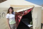 Палатка в бедуинском кемпинге