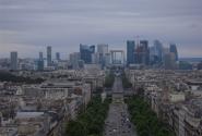 Вид на Дефанс с Триумфальной арки