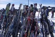 лыжи отдыхают
