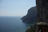 Вид на море с площадки Трагара- Капри