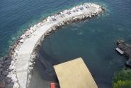 Пляж на понтоне в Сорренто