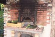 вот она печка в саду
