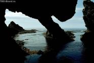 Изрезанный берег побережья Охотского моря