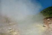 Фуморола около вулкана Баранский