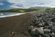 Здесь начинается песок.Вулкан Стокап