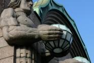 Вокзал. Истинно финская архитектура.