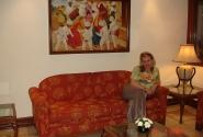 В отеле Викрам.