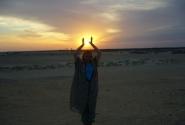 Закат солнца в Сахаре