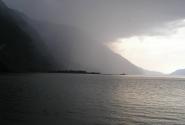 Дождь. Телецкое озеро