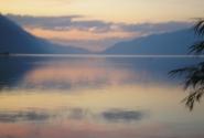 Закат на Телецком озере