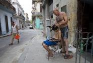 Уличная парикмахерская