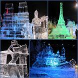 Достопримечательности мира, выполненные изо льда, можно увидеть на Елисейских Полях