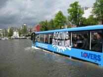 Экскурсии на автобусах-амфибиях в Амстердаме