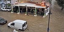 Сильное наводнение на Родосе