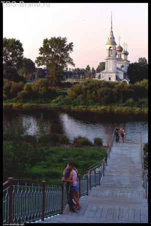 Вологда. Набережная в центре города.