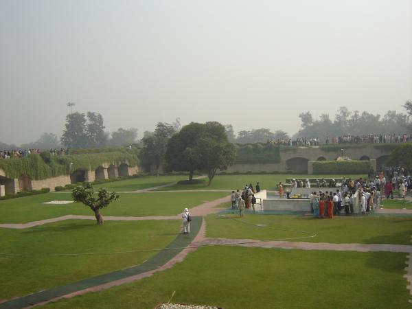 Место кремации Индиры Ганди