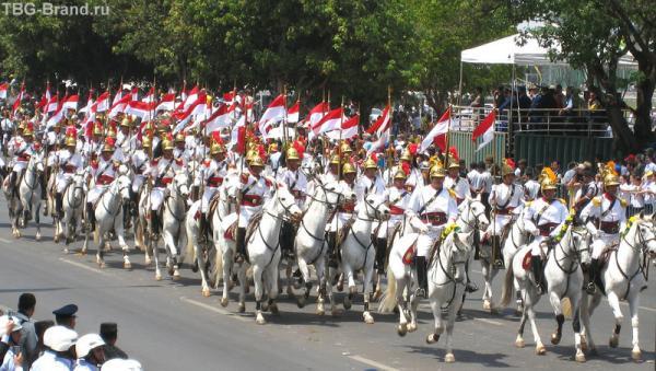 А вот наконец самая красивая часть парада