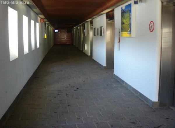 Это конечная станция метро, на котором только и можно добраться до горы в Serfaus.