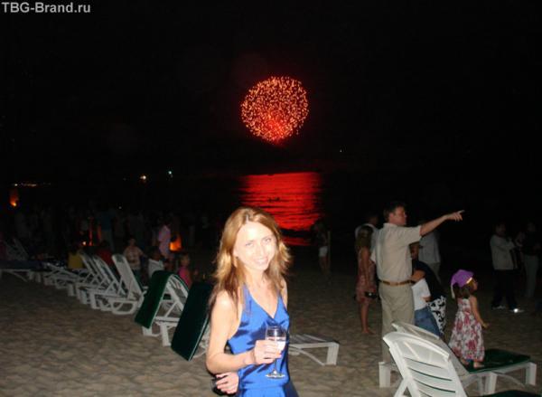 Новый год.. под пальмами на пляже!