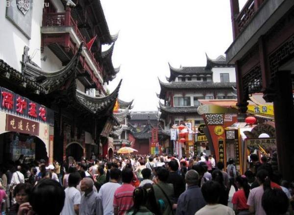 Шанхайский downtown. 1,5 миллиарда китайцев