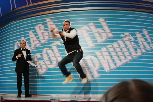 Чемпион по прыжкам в сторону - Леня Закашанский!