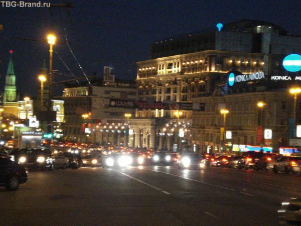 ... и ночь так быстро опустилась на Тверской...