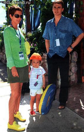 С Игорем и дочкой Лизой - на отдыхе