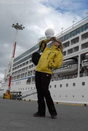 в порту г. Ушуайя перед вылетом в Калафетте
