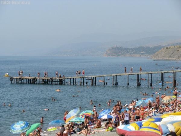 Пляж в Морском
